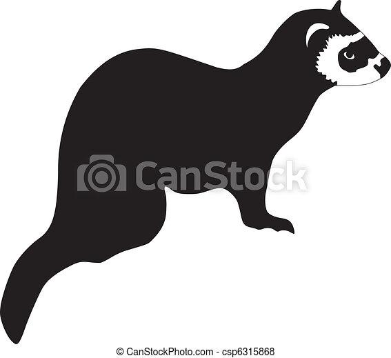 silhouette of ferret - csp6315868