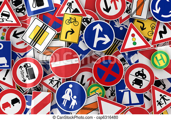 Many Traffic Signs - csp6316480