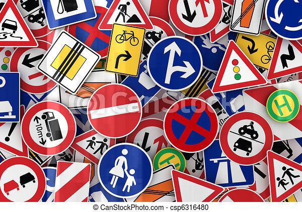 Many Traffic Signs - csp6316480