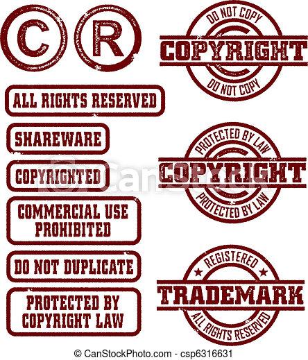 Copyright/Trademark Stamps - csp6316631