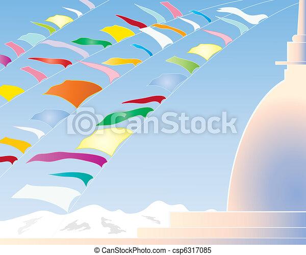 prayer flags - csp6317085