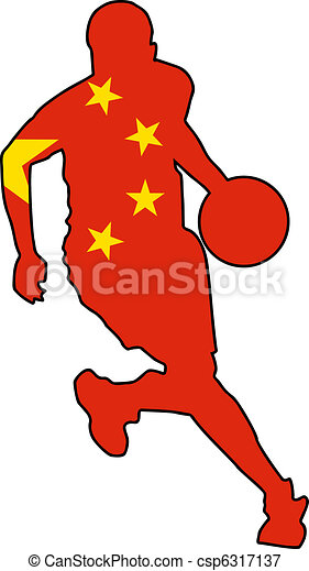 basketball colors of China - csp6317137