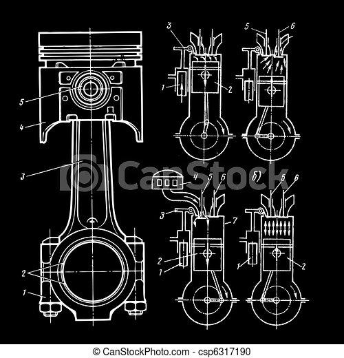 blueprints of pistons - csp6317190