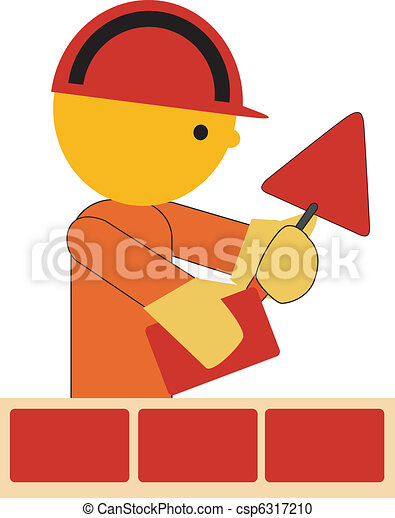 Bricklayer Clipart Vector and Illustration. 1,060 Bricklayer clip ...