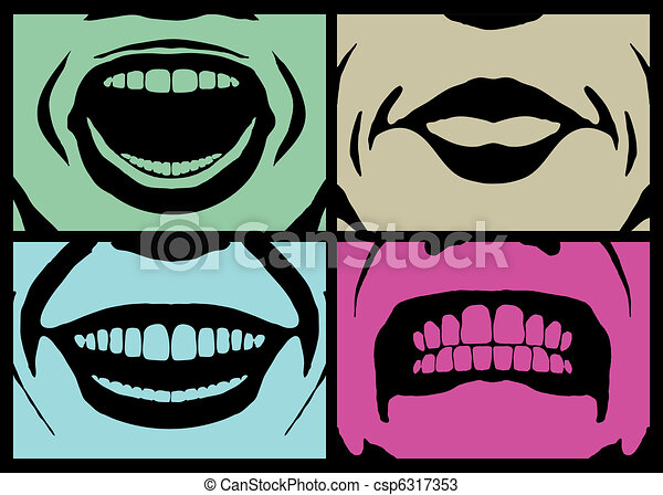mouth expressions - csp6317353