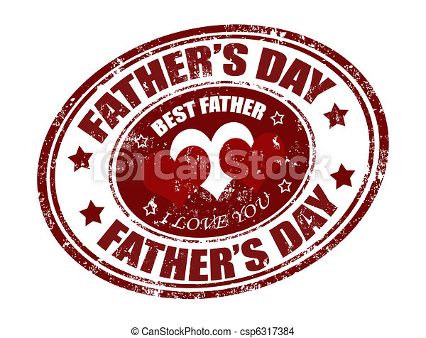 father's day stamp - csp6317384