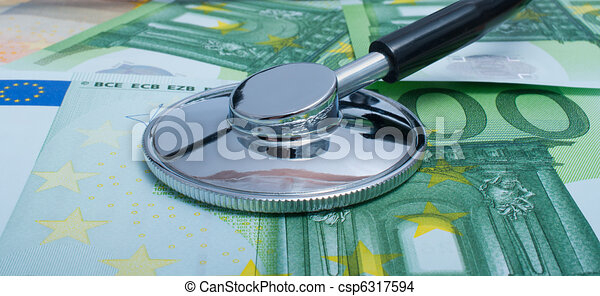 Health cost. Version with euros. - csp6317594