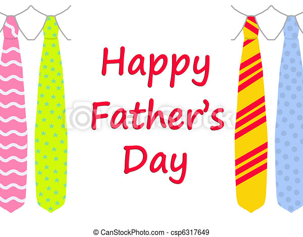 Happy Father's Day card with ties - csp6317649