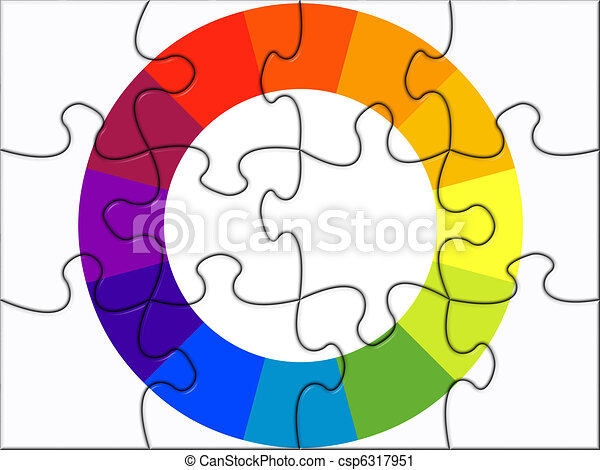 color wheel in puzzle - csp6317951