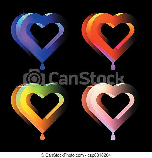 juicy hearts - csp6318204