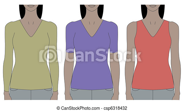 strap tank top template - csp6318432