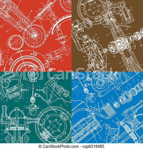 technical drawing - csp6318485