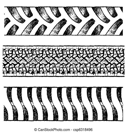 tire tracks - csp6318496