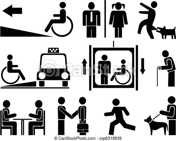 People icons, pictograms - csp6318839