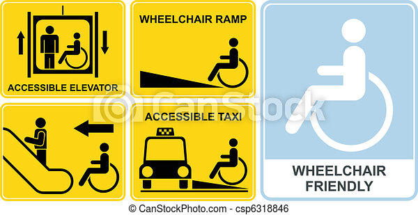 Wheelchair sign - csp6318846