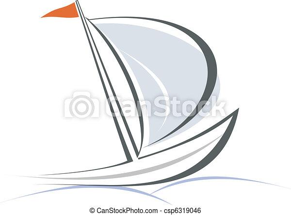 Yacht, sailboat - csp6319046
