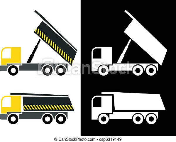 Dump truck - csp6319149