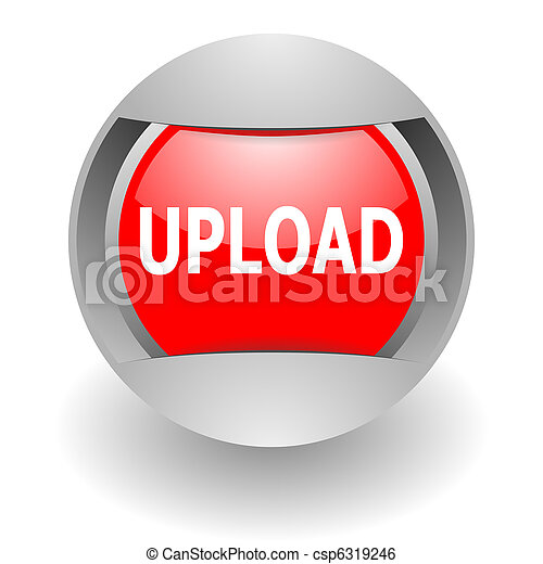 upload steel  glosssy icon - csp6319246