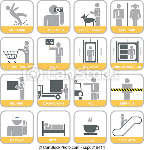 Set of vector icons - csp6319414