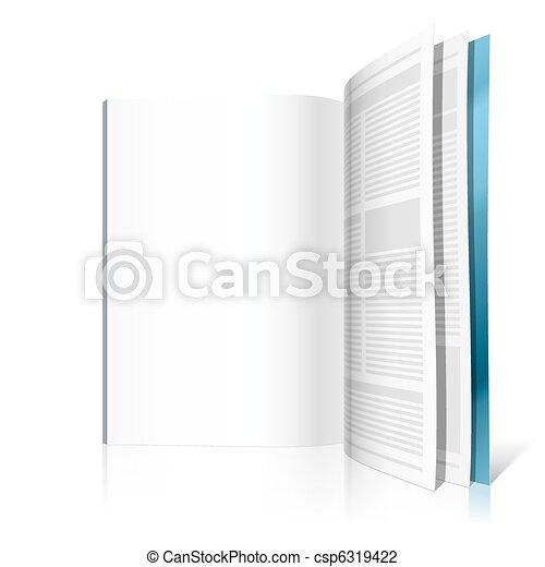Blank magazine page - csp6319422