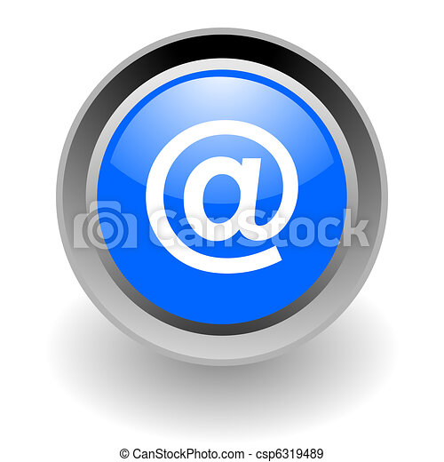 e-mail steel glosssy icon - csp6319489