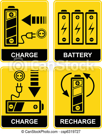 batería,  vector,  -, Recarga, señal - csp6319727