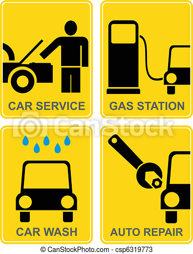 Car service, fuel station, auto rep - csp6319773