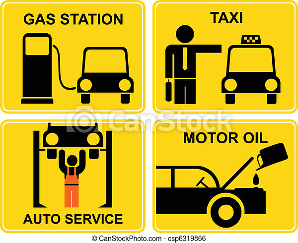 Autoservice, fuel station, change m - csp6319866