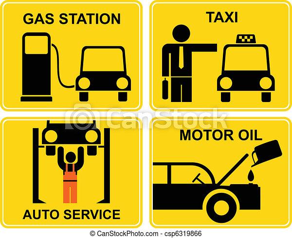 Autoservice, fuel station, change m - csp6319866