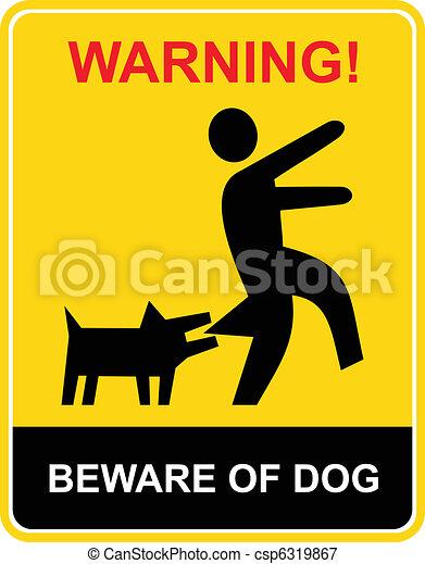 Warning - beware of dog - csp6319867