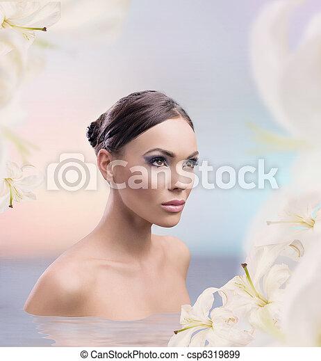 Spa bath of a female beauty - csp6319899