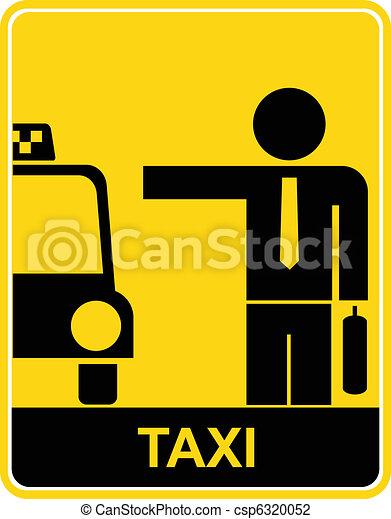 Taxi - sign, symbol - csp6320052
