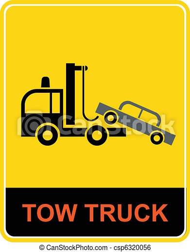 Tow truck - sign - csp6320056