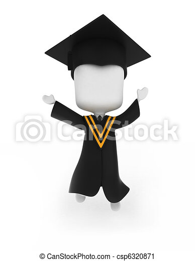 Graduate Jumping Happily - csp6320871