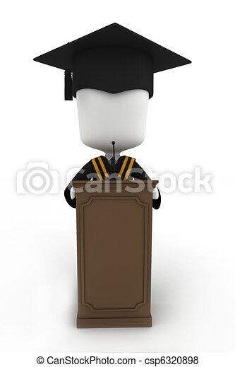 Graduate Giving a Speech - csp6320898