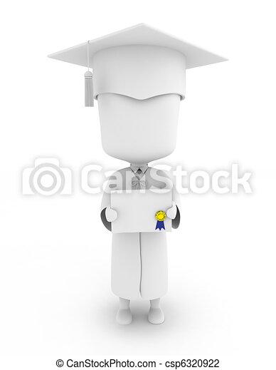 Graduate Showing His Certificate - csp6320922