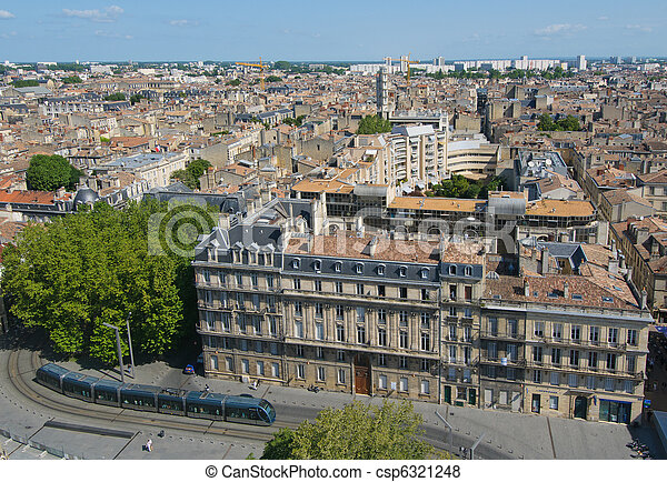 Panorama of Bordeaux, France - csp6321248