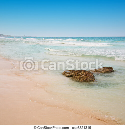 beach at Cancun, Mexico - csp6321319