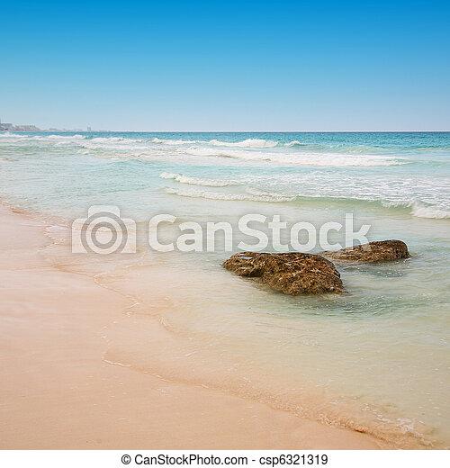 beach at Cancun, Mexico - csp6321319