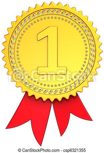 Winner first place award ribbon - csp6321355
