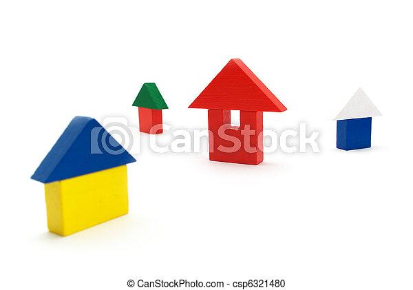 Toy houses - csp6321480
