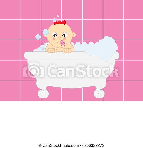 bathing baby - csp6322272