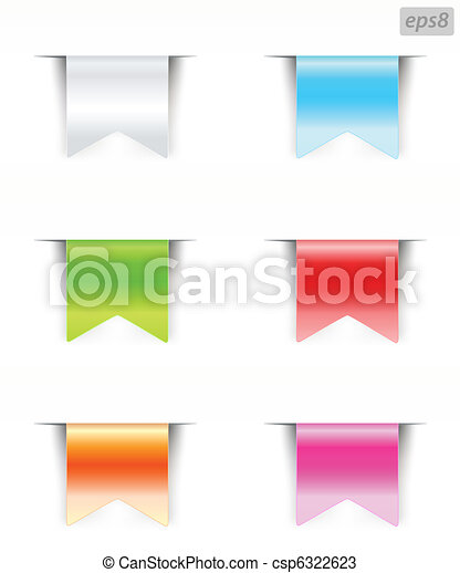 blank ribbons with color variations - csp6322623