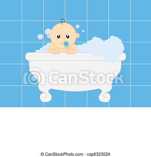 bathing baby - csp6323024