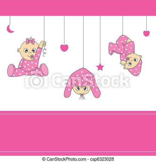 baby girl playing - csp6323028