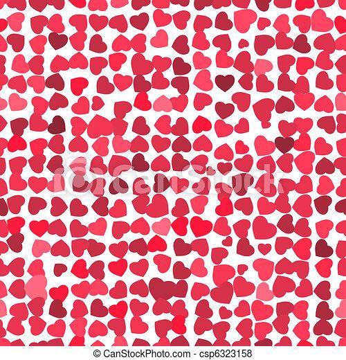 Valentine seamless hearts pattern. EPS 8 - csp6323158
