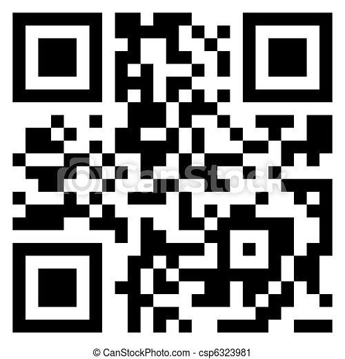 Big Sale qr code for item in sale. EPS 8 - csp6323981