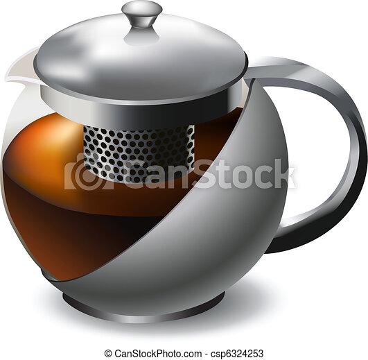 stainless steel teapot - csp6324253