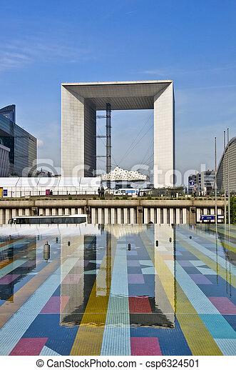 Grand Arch. District Defans. Business center of Paris. - csp6324501