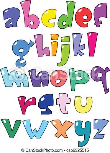 Cartoon small alphabet - csp6325515